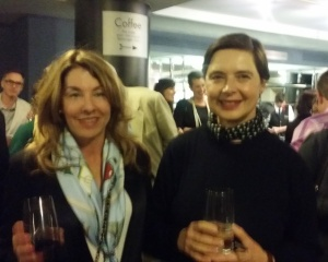 With Isabella Rosselini - she was the face of Lancome for 14 years
