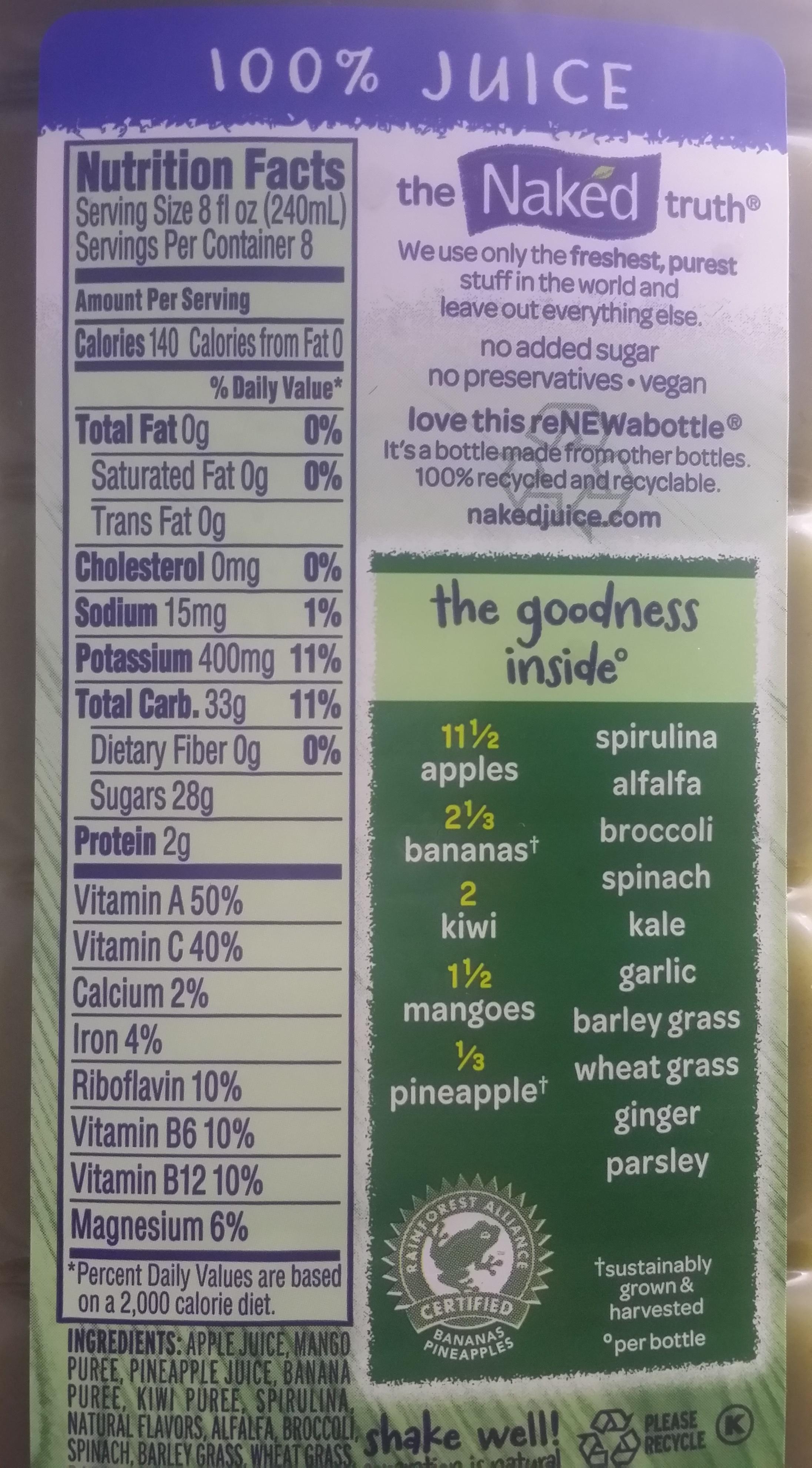 Naked juice nutrition facts, bikini nip vid