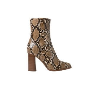 Snake finish Booties, Mango - $80