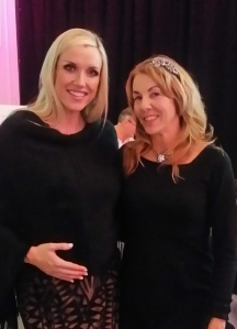 With gorgeous soon-to-be mom Amanda Wood. She sang the most beautiful rendition of Hallelujah.