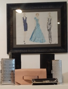 How about an elegant evening clutch bag? These are found at KATE FRENCH Wear - 2352 W. 4th Ave. in Vancouver. There is a lot more to this store than what is shown here.