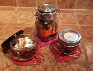 You can use different sized jars - fun way to serve