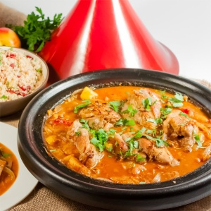 You can serve it Moroccan style in a tagine over cous cous (or on the side) and add cilantro or green onion.