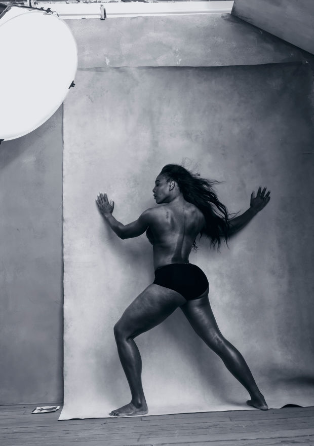 Showing Strength. Tennis player Serena Williams. Photo: Annie Leibovitz/Pirelli Calendar