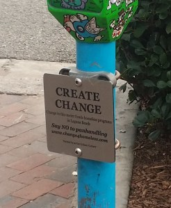Say NO to panhandling