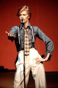 Bowie's most normal look of the 70's Photo: Steve Morley/Redferns