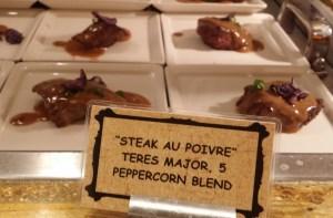 steak au poivre with peppercorn blend