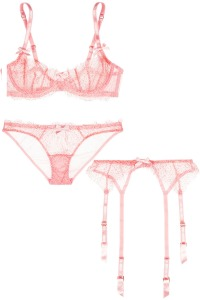 L'Agent buy Agent Provocateur. Sold at net-a-porter.com Bra: $110 Panties: $50 Garter: $65
