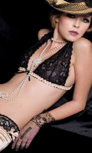 JF lingerie lace triangle bra & panties