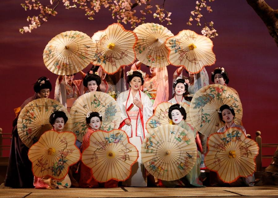 Middle: Mihoko Kinishita as Cio-Cio-San (Butterfly). Photo: Tim Matheson