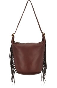 COACH VINTAGE Circa-1971 Coach Mahogany Leather Fringed Duffle Shoulder Bag - $995