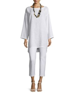 Organic Linen Long Tunic - USD 228.00