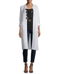 Long Organic Linen Jacket USD 248.00