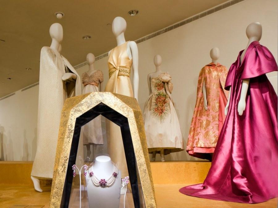 Milan 3 Photo by Steven Brooke Jewelry from Bulgari is shown alongside elegant gowns.