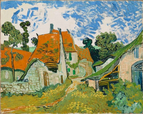 Vincent van Gogh (Dutch, 1853–1890) Street in Auvers-sur-Oise 1890 Oil on canvas 29 × 36 3⁄8 in. (73.5 × 92.5 cm)