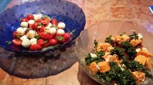 Grape tomato & bocconcini with basil & balsamic glaze
