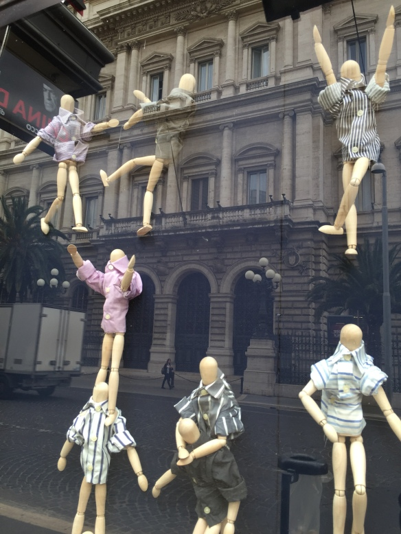 Mini mannequins (taken thru window) Rome. photo: Colleen Kohse