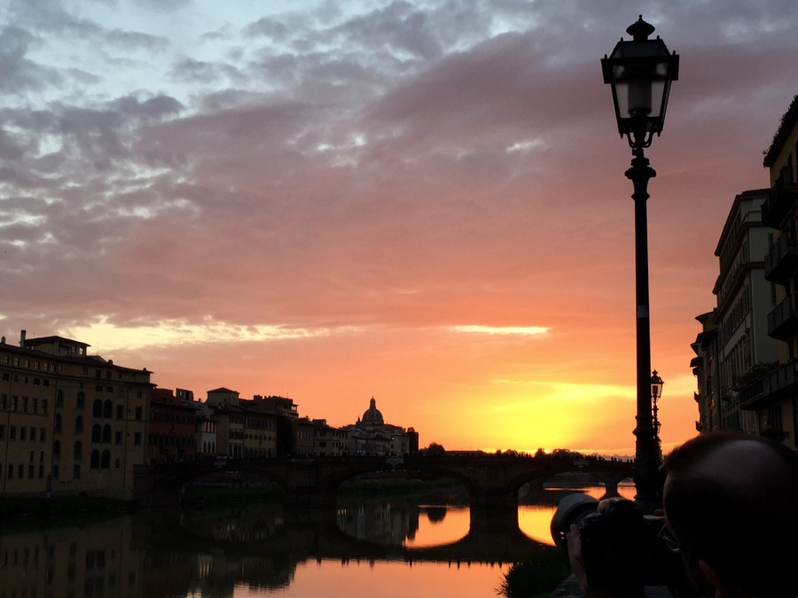Sunset in Florence. photo: Colleen Kohse