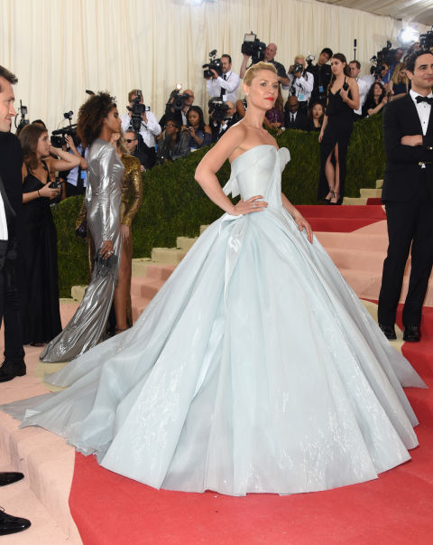 Claire Danes lit up the Met Gala in an illuminated Zac Posen ball gown that was part princess, part futuristic.