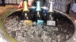 chilled Prosecco bottles