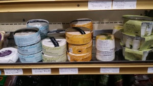 Selection of handmade cheeses