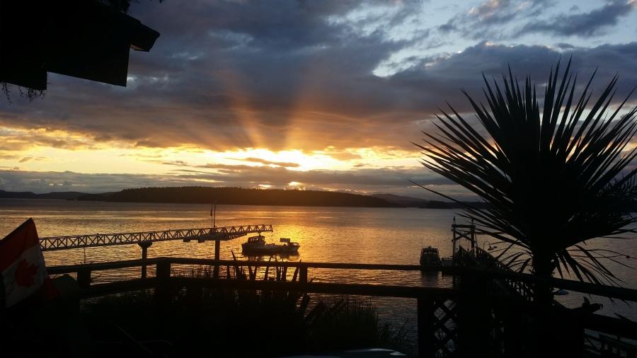 Sunrise on Piers Island