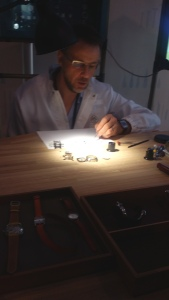 The Watchmaker keeps time ticking with hundreds of miniscule components.