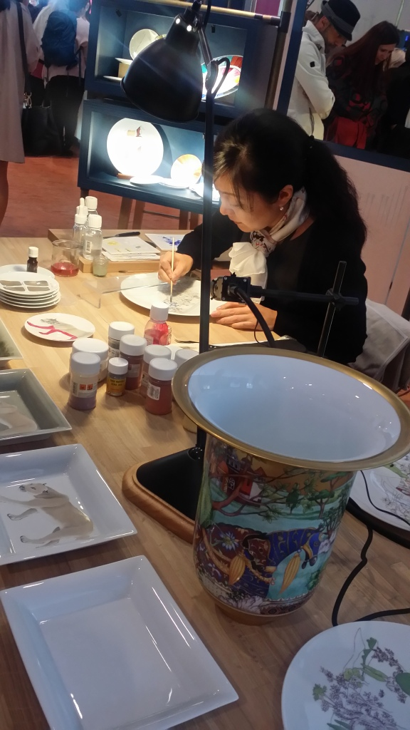 The Porcelain Painter. They are decorated near Limoges in France.