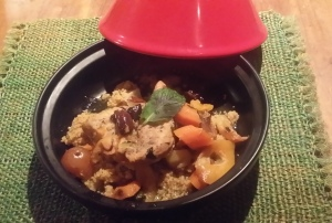 Plated on an individual serving tagine
