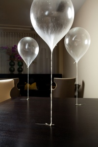 Helium balloon dessert made with apple. Source: Alinea Restaurant