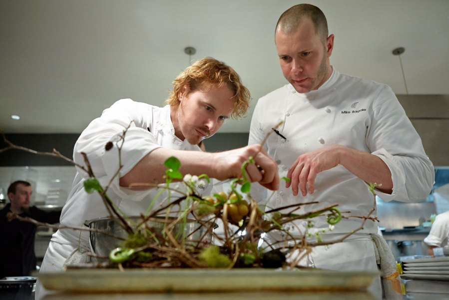 Restaurateur Grant Achatz, left. Source: Alinea Restaurant