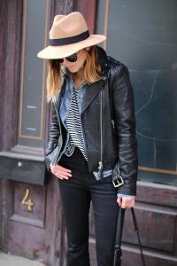 The leather bomber jacket