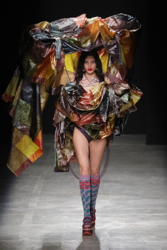A model walks the runway during the Vivienne Westwood show. Antonio de Moraes Barros Filho/WireImage