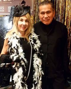 With musician friend Doug Louie