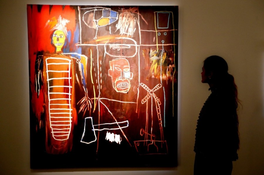 A painting by Jean-Michel Basquiat called