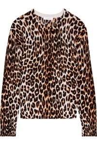 I saw this at Coco's closet - LOVE! EQUIPMENT Shirley leopard-print silk and cashmere-blend sweater