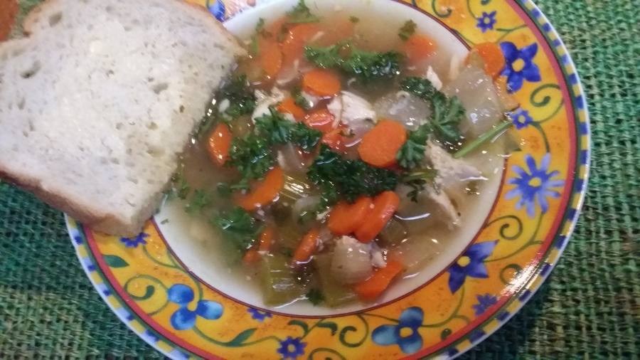 Chicken Bone Broth with Vegetables