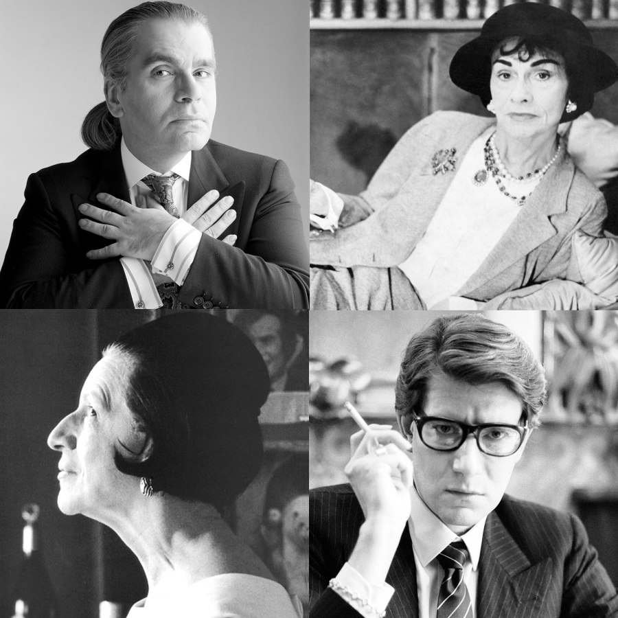 Style Icons Karl Lagerfeld, Coco Chanel, Diana Vreeland & Yves Saint Laurent.