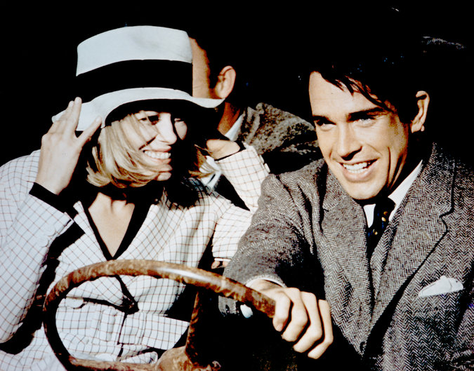 Faye Dunaway and Warren Beatty in Bonnie & Clyde