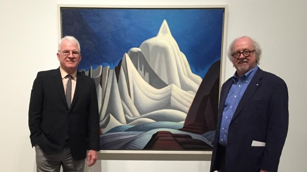 Steve Martin was Michael's guide for a tour of a new exhibition of Harris's work at the Art Gallery of Ontario. (Art Gallery of Ontario)