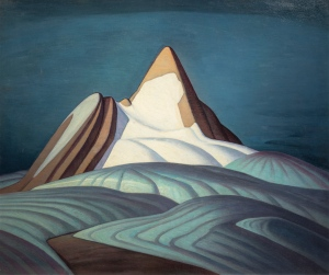 Isolation Peak, Rocky Mountains. 1930. Oil on canvas. Hart House Permanent Collection, University of Toronto. Purchased by the Art Committee with income from the Harold and Murray Wrong Memorial Fund, 1946. (Lawren Harris).
