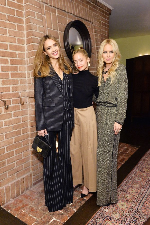 Jessica Alba, Nicole Richie and Rachel Zoe (in jumpsuit).