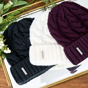 The knit factor - Soia & Kyo Olivia Cable-Knit Beanie, Retail Value: $50