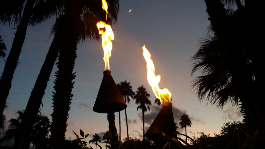 Girl on Fire - Tiki Style