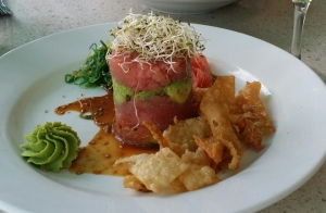 The Tuna Tower at Lulu's California Bistro is a favourite