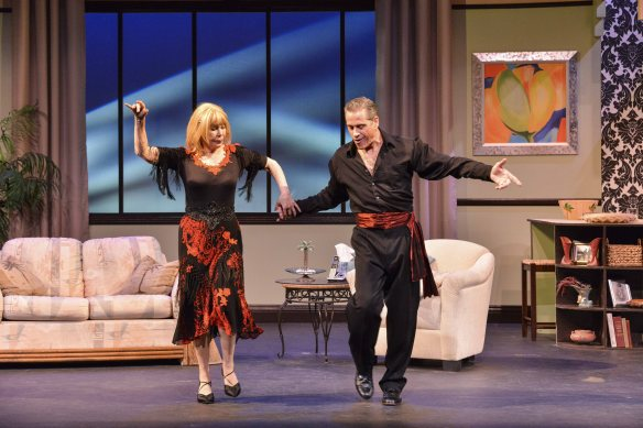 Michael (David Engel) teaches Lily (Loretta Swit) how to dance
