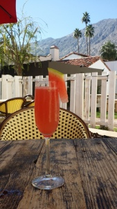 Fresh squeezed watermelon mimosa