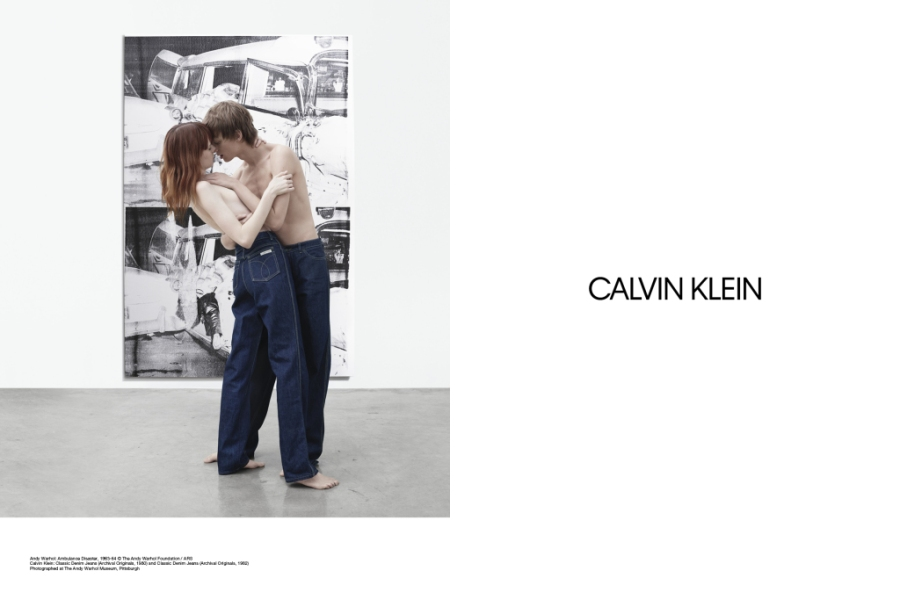 Images from Calvin Klein's spring 2017 campaign.